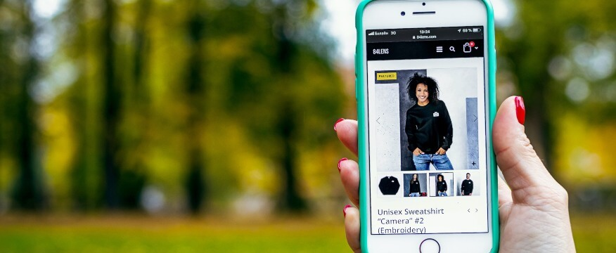 mobile ecommerce product images and thumbnails